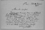 Lettres autographes signées. LE GOFFIC Charles