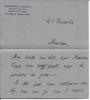 Lettre autographe signée. LEFÈVRE Raymonde