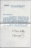 Lettres tapuscrites signées. LOUIS DE BLOIS