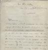 Lettres autographes signées. FOULON de VAULX André