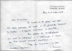 Lettres autographes signées. BRESARD Suzanne