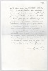 Manuscrit autographe signé. CHARPENTIER Octave