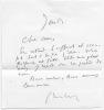 Lettre autographe signée. GÉRALDY Paul