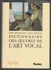 Dictionnaire des œuvres de l'Art Vocal. HONEGGER Marc et PREVOST Paul