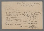 Autographe de Bonaparte-Wyse. BONAPARTE-WYSE William C.