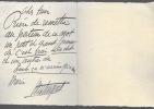 Lettre autographe signée. MISTINGUETT