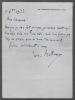 Lettre autographe signée. BARTHOU Louis