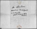 Lettre autographe signée. DU PUY-MONTBRUN Marquis