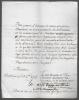 Lettre  signée. DU PUY-MONTBRUN Marquis et MARSANNE Comte de