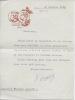 Lettre signée. AJALBERT Jean