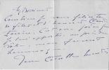 Lettre autographe signée. CATULLE MENDÈS Jane