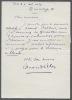 Lettre autographe signée. PILON Edmond