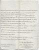 Lettres autographse signées. DAMPMARTIN Anne-Henri
