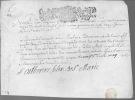 Parchemin autographe signée. SAINT-GERMAIN-EN-LAYE