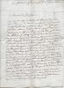 Lettre autographe signée. MORÉ DE CHARAIX Vincent Antoine
