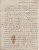 Lettre autographe signée. DELPY de LA ROCHE Louis Henry