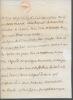 Lettre autographe signée. CAYLUS Daniel, Charles, Gabriel de Pestels de Lévis de TUBIÈRES de
