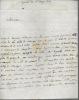 Lettre autographe signée. MILLY Comte de