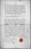 Cachet de cire rouge. BRANCAS Louis Paul