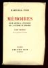 Mémoires pour servir à l'histoire de la guerre de 1914-1918. FOCH Maréchal