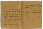 1898 - ? Femme de lettres. L.A.S. datée 11 mai 1927.. ACREMANT Germaine