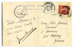 """1848 - 1921. Romancier, auteur du célèbre """"Maurin des Maures"""". Académie française en 1909. Carte postale A.S. (1909) adressée à Abel Moreau.. AICARD ..."""