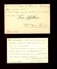 1863 - ?. Membre de l'Académie Goncourt, directeur de la Manufacture de tapisseries de Beauvais. 2 Cartes A.S.. AJALBERT Jean