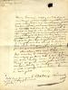 1792 - 1860. Littérateur, auteur dramatique et dessinateur.2 L.A.S. . BERAUD Anthony