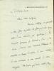 1870 - 1963. Romancier. Académie française. L.A.S.  datée 10 février 1927.. BORDEAUX Henry