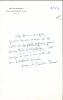 1912 - 2001. Écrivain, Grand prix du roman de l'Académie française. Académicien en 1981. L.A.S.  datée 22 juillet 1963.. BOURBON-BUSSET Jacques de