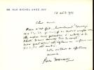 1896 - 1966. Romancier, administrateur de la Comédie-Française. 12 cartes et L.A.S.. DESCAVES Pierre