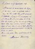 1862 - 1945. Auteur dramatique, du groupe du Chat-Noir. Académie française en 1907. L.A.S. datée 15 septembre 1917.. DONNAY Maurice