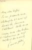 1869 - 1955. Auteur dramatique, administrateur de la Comédie-Française de 1913 à 1936. 3 L.A.S. . FABRE Émile