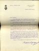 1889 - 1967. Écrivain et avocat. L.A.S. . GARçON Maurice