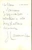 1843 - 1924. Écrivain et homme politique. Représentant en 1891 le comte de Paris auprès des comités monarchiques. Académie française en 1888. L.A.S. . ...