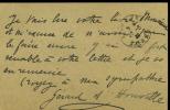 Marie-Louise Antoinette de Hérédia. 1875 - 1963. Femme de lettres , épouse de Henri de Régnier. L.A.S. . HOUVILLE Gérard d'
