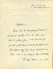 1846 - 1934. Magistrat, historien. L.A.S. datée 20 février 1914.. LA GORCE Pierre de
