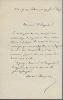 1833 - 1907. Poète et romancier. L.A.S. . THEURIET André
