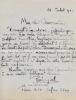Journaliste célèbre par ses entretiens sur l'art avec Rodin. L.A.S. . GSELL Paul