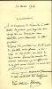 1846 - 1920. Peintre, sculpteur. Lettre autographe signée.. MERSON Luc Olivier