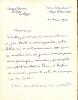 1859 - 1938. Peintre. Beau-fils de Théodore de Banville, il fut un peintre de renommée internationale dans les années 1880 - 1900. Lettre autographe ...