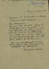 1894 - 1973. Peintre, sculpteur, graveur et céramiste. Lettre autographe signée.. SAVIN Maurice