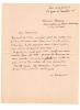 1875 - 1953. Peintre et garveur. Lettre autographe signée.. URBAIN Alexandre