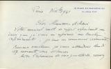 1881 - 1970. Peintre, sculpteur et dessinateur. Lettre autographe signée datée novembre 1942.. WAROQUIER Henri de