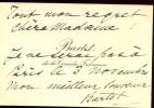 1851 - 1941. Jolie carte de visite, avec autographe signé. Artiste dramatique. Elle rejoint la Comédie-Française après huit années de Vaudeville qui ...
