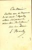 1844 - 1940. Universitaire et physicien. Connu principalement pour son invention du radioconducteur.  Lettre autographe signée.. BRANLY Édouard