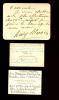 2 lettres autographes signées et 1 carte autographe signée.. (Comédie-Française)