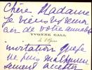 1885 - 1972. Cantatrice. , elle chanta à l'Opéra en 1904, puis à l'Opéra-Comique en 1919. Épouse de Henri Busser, célèbre compositeur. Carte ...