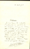 1851 - 1931. Compositeur. Un des fondateurs de la Schola Cantorum (1896). Lettre autographe signée.. INDY Vincent d'