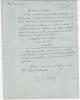 1867 - ?. Officier. Commandant en 1913, il s'illustra par son héroïque défense du fort de Vaux à Verdun en 1916.  Lettre autographe signée.. RAYNAL